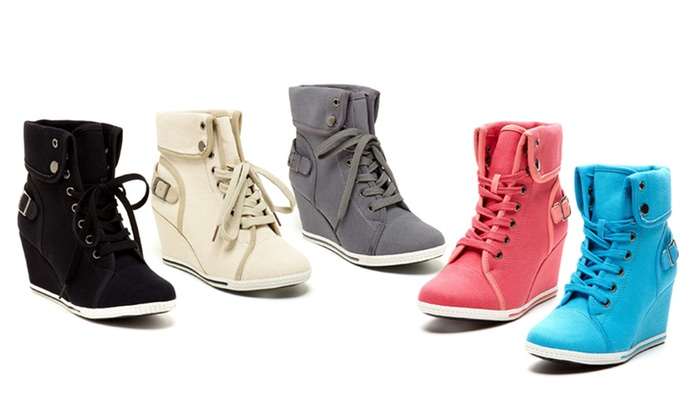 Bucco Women's Sneaker Wedge Groupon Varer  Groupon Goods