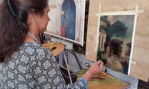 Shishkin Art Studio : BYOB Social Paint Night Outing for One, Two, or Four with Shishkin Art Studio (Up to 72% Off)