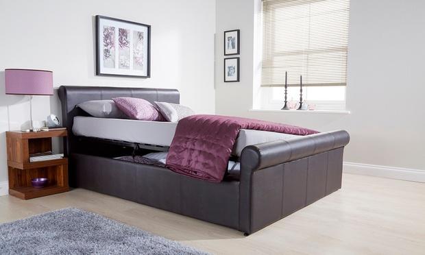 Milan Fabric Or Pu Ottoman Bed Groupon Goods