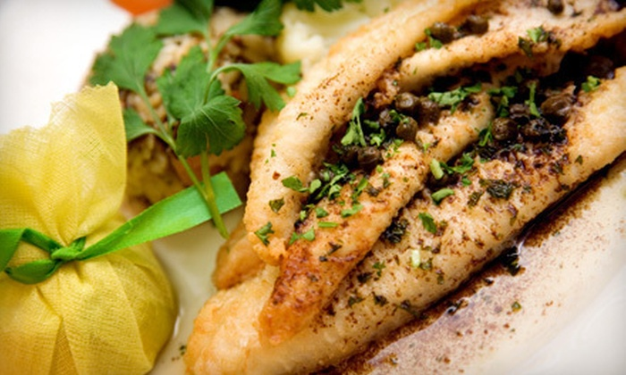 Grilled Fish - East Side,Flatiron,Gramercy,Kips Bay,Midtown,Murray Hill,Rose Hill: $25 Worth of Seafood and Drinks