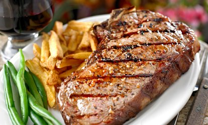 image for Two-Course Steak Meal with Wine for Two or Four at The Drum & Monkey (Up to 56% Off)
