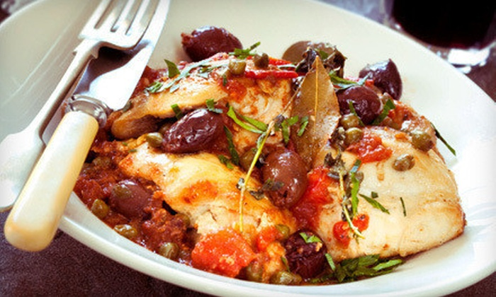 Luna Rossa - Stillwater: $20 for $40 Worth of Italian Cuisine or Cave Tour with Appetizer and Wine for Two at Luna Rossa