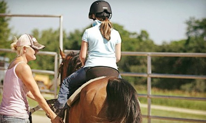 Giddyup Stables - Glendale: Kids Camp or Intro to Horsemanship Class at Giddyup Stables (Up to 55% Off)