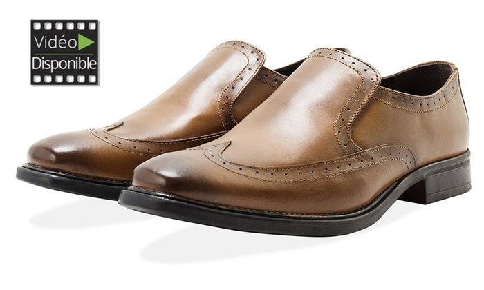 Mocassins 100% cuir Redfoot   Groupon Shopping 35f658589f91