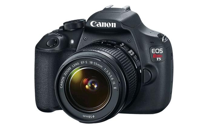 Canon EOS Rebel T5 18MP DSLR and Lens Bundles