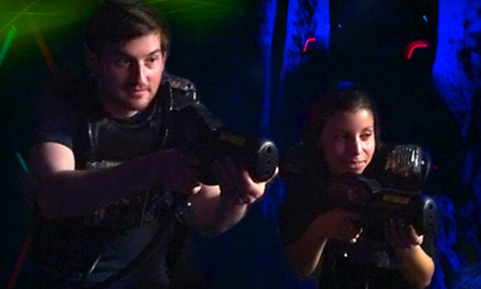 Adventure Racing - French Mountain,Paradise Beach:  Laser-Tag and Bumper-Car Sessions for Two, Four, or Six at Adventure Racing in Queensbury (Up to 59% Off)