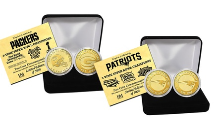 NFL Super Bowl Multiple-Champion Coin Set