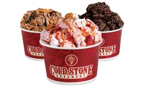 Cold Stone Creamery: Family of Four or Date Night for Two Ice-Cream Packages with Three Mix-Ins Per Person (50% Off)