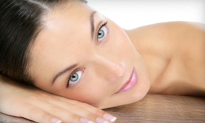 Skin Bliss - Solon: Anti-Aging Microcurrent Facial with Optional Exfoliating Facial or a Medical-Grade Peel at Skin Bliss (Up to 65% Off)