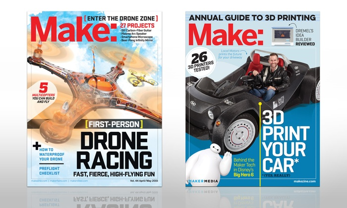 Make: Magazine: $20 for a One-Year, Six-Issue Subscription to Make: Magazine ($34.95 Value)