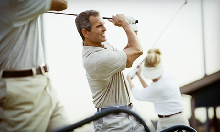 Airport Driving Range - Amherst: $10 for Two Extra-Large Buckets of Balls at Airport Driving Range ($20 Value)