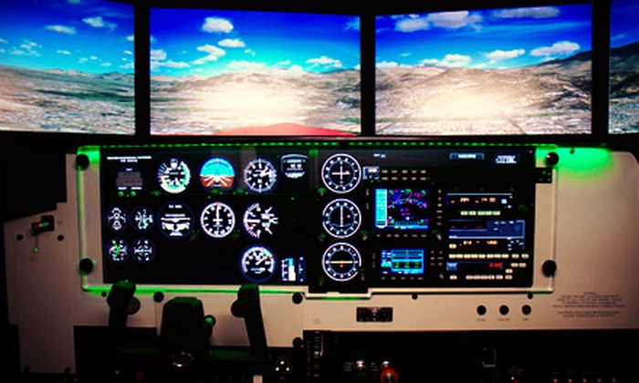 U.S. Aviators - Northridge: 60-Minute Flight-Simulator Piloting Experience for One or Two at U.S. Aviators (63% Off)