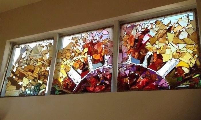 Glass Mosaics Workshop - Juggernaut Glass Houston: Make a Framed Sun Catcher with a Glass Artist