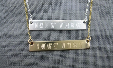 Customizable Coordinate Necklace from JC Jewelry Design