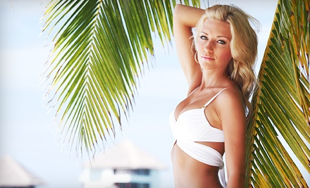 Three or Five Airbrush Spray Tans or Body Scrub with Spray Tan at The Body Shop Massage & Day Spa (Up to 59% Off)