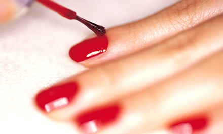 Mani-Pedis at Touch of Class Nail Salon (Up to 51% Off). Three Options Available.