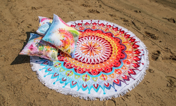 Hasta 57 dto toallas de playa redondas hip groupon - Toallas redondas de playa ...