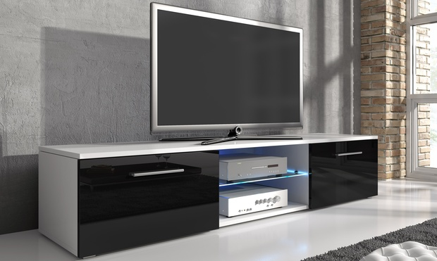 samuel tv cabinet with led groupon goods. Black Bedroom Furniture Sets. Home Design Ideas