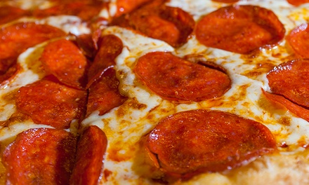 Dine-In Pizza Dinner for Two or $15 for $20 Worth of Pizza for Carry-Out from Pizza Schmizza Pub & Grub