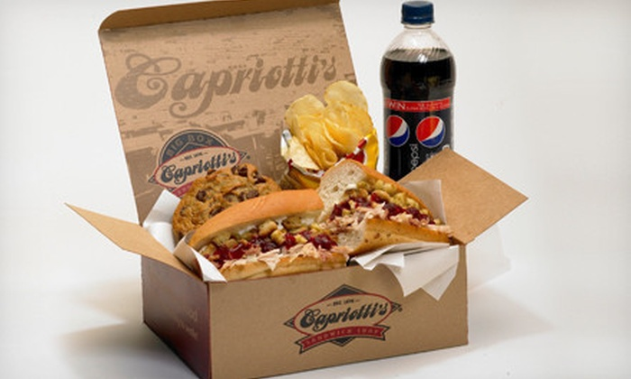 Capriotti's Sandwich Shop - Multiple Locations: Sandwiches and Salads from the Regular or Catering Menu at Capriotti's Sandwich Shop (Half Off)