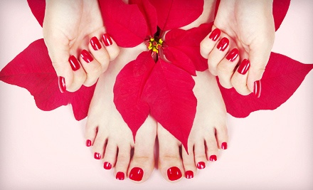 $45 for a Shellac Manicure and Spa Pedicure at Free Spirit Skincare in Gresham ($90 Value)