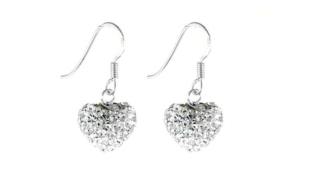Sterling Silver Swarovski Elements Chandelier Dangle Earrings