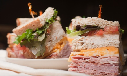 Punch Card for Five Hot and Cold Sandwiches or Five Breakfast Dishes at Cafe V (Up to 47% Off)