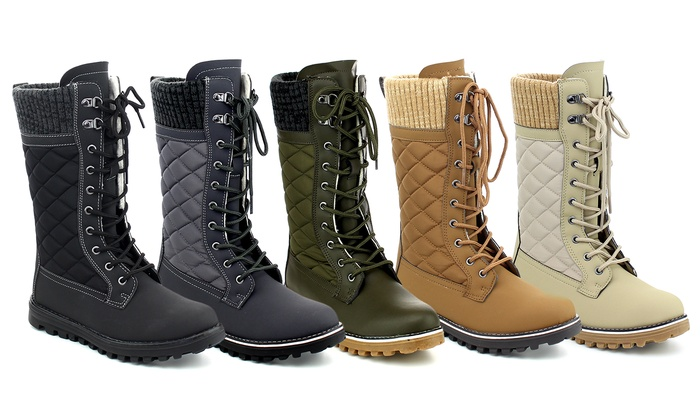 Mata Women's Sweater-Top Cold-Weather Boots | Groupon