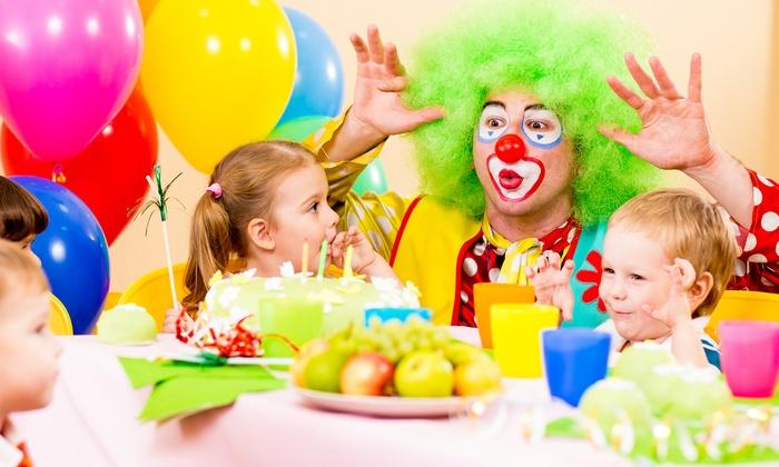 children s birthday parties oob birthday celebration station groupon