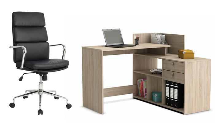 scrivanie e sedie da ufficio groupon goods