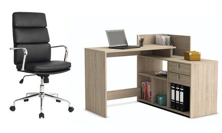 Scrivanie e sedie da ufficio groupon goods for Groupon arredamento