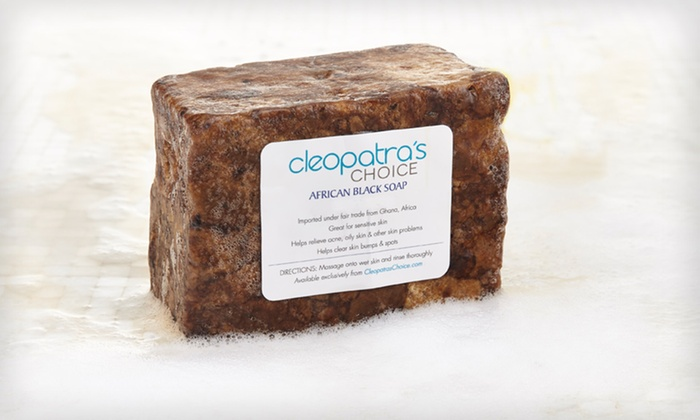 African Black Soap Two 12-Oz. Bars: $11.99 for Cleopatra's Choice African Black Soap 2-Pack ($24 List Price)