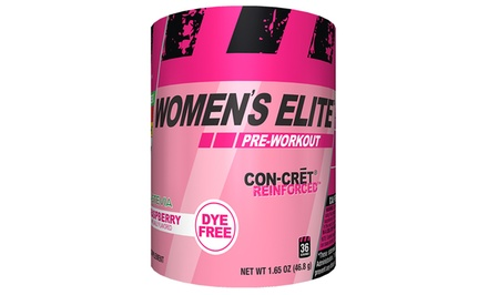 36-Serving Container of Con-Cret Women's Pre-Workout Supplement
