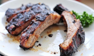 B.J. Ryans's Banc House: $28 for $50 Worth of Barbecue and Seafood at BJ Ryans's Banc House