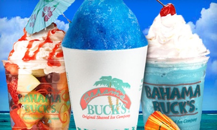 Shaved-Ice Paradise Party Pack for Up to 25 or $3 for $10 Worth of Smoothies and Tropical Drinks at Bahama Buck's