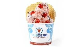 Sub Zero Ice Cream & Yogurt: $15 for Five Groupons, Each Good for $5 Worth of Ice Cream at Sub Zero Ice Cream & Yogurt ($25 Value)
