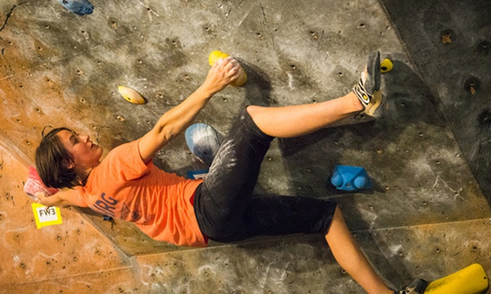 The Crag - Franklin: Indoor Rock Climbing Package for One or Two with Instruction or Five-Visit Package at The Crag (Up to 78% Off)