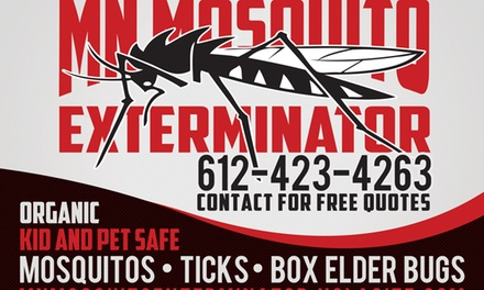 Up to 56% Off Barrier-spray mosquito treatment at MN Mosquito Exterminator