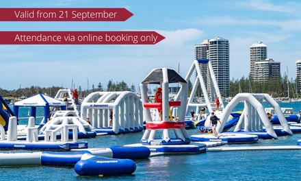 One $16 or Two 50Minute Aqua Park Sessions $32 at GC Aqua Park, Southport Up to $40 Value