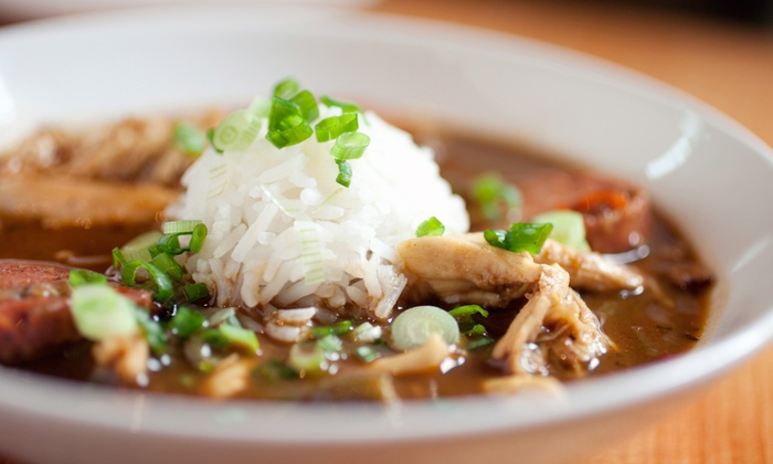 Moses Jackson Cajun & Creole Chef - Multiple Locations: Catered Three-Course Cajun Meal or Cooking Class for One or Two from Moses Jackson Cajun & Creole Chef (Up to 51% Off)