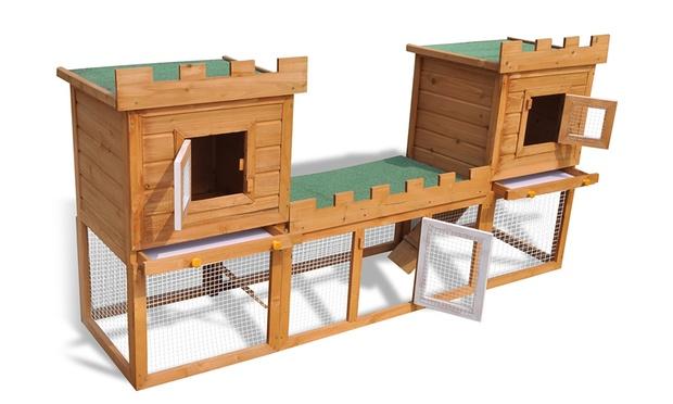 clapier d ext rieur pour lapins groupon shopping. Black Bedroom Furniture Sets. Home Design Ideas