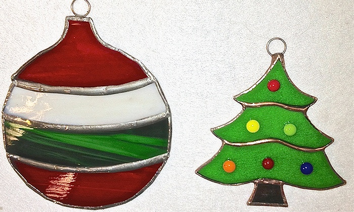 Ocean Stained Glass - Seal Beach: Stained-Glass Ornament-Making Class for One or Two at Ocean Stained Glass (Up to 50% Off)