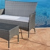 Malta Outdoor Loveseat and Coffee Table
