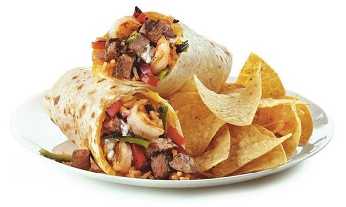 Baja Fresh - Multiple Locations: Mexican Cuisine, or Catered Party Pack for 10 People at Baja Fresh (Up to 52% Off)