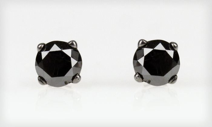 39 For Black Diamond Stud Earrings