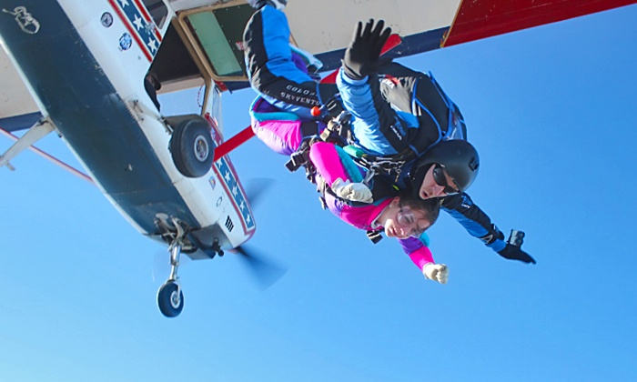 Dallas Skydive Center - Caddo Mills: Tandem Jump for one or two people at Dallas Skydive Center (Up to 37% Off)