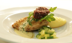 Brasserie 7: A Two-Course Early Bird Dinner with Wine for Two at Brasserie 7 (Up to 56% Off)
