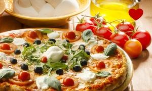 Ristorante Pizzeria Antico Roseto: Menu pizza con antipasto di mare o di terra, Pinot Nero e dolce da Ristorante Pizzeria Antico Roseto (sconto fino a 68%)