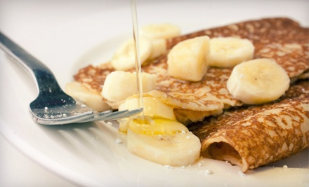 Crepes and More for Breakfast, Lunch, or Dinner at Crepes and Grapes Café in Whittier (Half Off)