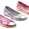 Kensie Girls' Holographic Flats